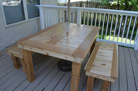 Outdoor Dining Bench Ana White Cedar Outdoor Dining Table And Benches Diy Projects