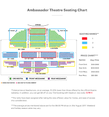 chicago theater floor plan ambassador theatre seating chart chicago tickets reviews and more