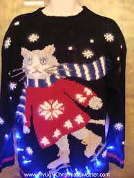 Ugly Christmas Sweater With Lights Ugly Christmas Sweaters With Cats New Year Info 2018