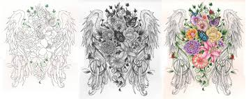 wings flowers back by tattoosavage deviantart com on