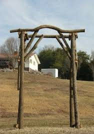 wedding arch log 9 best rustic log arbors and arches on our website images on