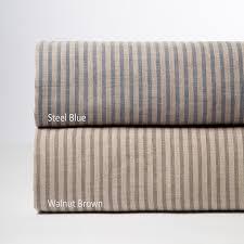 bernadette stripe linen duvet cover steel blue
