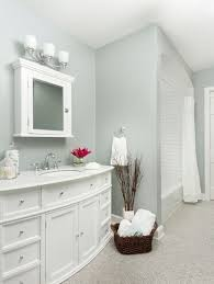 light grey wall paint color with elegant large vanity for best