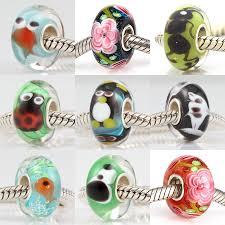 murano glass beads charm bracelet images Authentic 925 sterling silver bead charm flower animal lampwork jpg