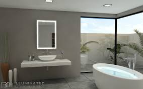 Lighted Mirror Bathroom Lighted Mirrors For Bathroom Lighting Backlit Mirror Home Depot