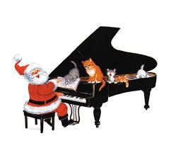 buy santa at piano xmas cards music stationery greeting cards