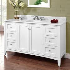 shaker americana 60 single bowl vanity polar white fairmont