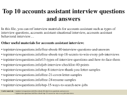 Sample Resume For Accounting Assistant by Top 10 Accounts Assistant Interview Questions And Answers 1 638 Jpg Cb U003d1427514585