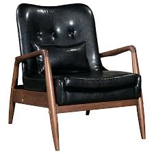 Upholstery Frame Ottoman Chair Ottoman Set Black Faux Leather Upholstery Walnut