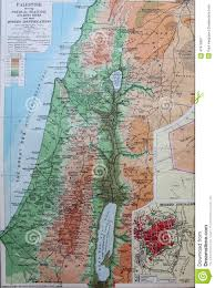 Physical Map Of Middle East by Old 1945 Map Of Palestine Middle East Stock Illustration Image