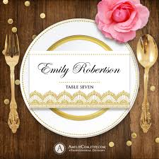 place cards diy printable place card gold lace for wedding instant download