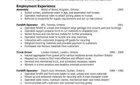 Resume For Forklift Operator 100 Forklift Resume Examples Resume Examples For Warehouse
