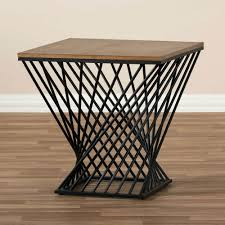 wire and wood basket side table side table wire side table coffee lovable storage basket natural