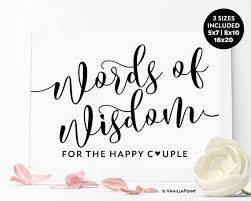 words of wisdom for the happy words of wisdom for the happy sign for and groom