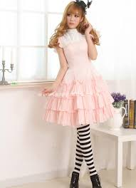 2016 Sweet Princess Pink Short Sleeves Lovely Summer Casual