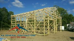 Pole Barns by Aa General Contracting Owego Ny Additions Garages Pole Barns