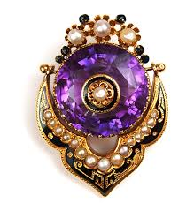 victorian 14k amethyst and pearl brooch pin arnold jewelers