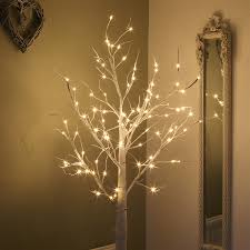 white tree with lights buy 180cm birch twig tree with 96 warm white leds festive lights