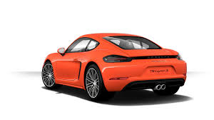 porsche cayman orange presenting the all new porsche 718 cayman fit my car journal