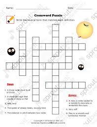 music worksheets u2013 halloween u2013 crossword puzzle