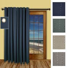Patio Door Curtain Panel One Way Draw Patio Curtain Thermal Patio Door Curtain