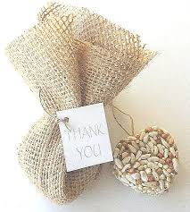bird seed favors bird seed wedding party favors burlap bags