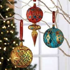 glass ornaments lights