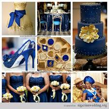 colour themes for nigerian wedding blue and gold color scheme nigerian wedding navy blue and