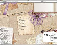Shabby Chic Website Templates by Vintage Paper Scrap Website Template For Astro Or Tarot Site