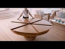 expanding circular dining table expanding table expanding circular dining table youtube anna design