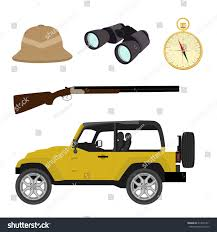safari jeep drawing vector safari travel icon set compass stock vector 313067411
