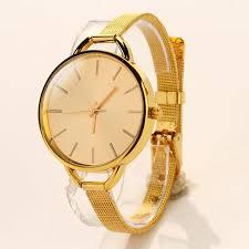 luxury gold bracelet watches images Luxury gold montre bracelet watch women fashion slim mesh band jpg