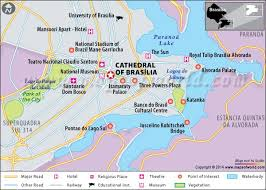 map of brasilia cathedral of brasilia travel information map facts location