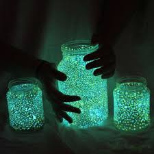 outside lights without electricity glow in the dark paint dotted on jars great outside light ideas