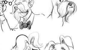 dog vs man sketches cartoon
