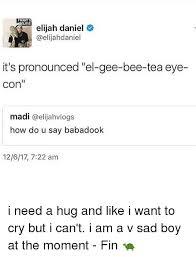 How Do U Pronounce Meme - lwantt elueve elijah daniel it s pronounced el gee bee tea eye con