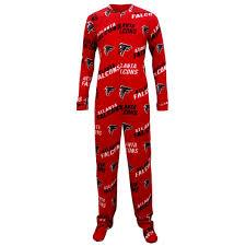 atlanta falcons wildcard union suit footed pajamas walmart com