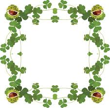 clipart of a st patricks day border of shamrock clovers