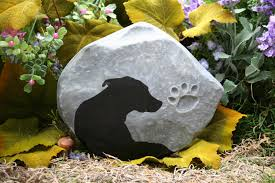 dog memorial dog memorial pet memorial custom painted silhouette