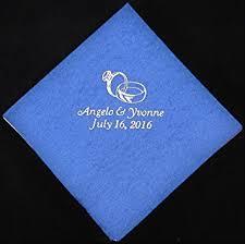 wedding napkins 50 personalized beverage napkins wedding favors custom
