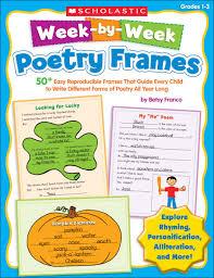 amazon com week by week poetry frames 50 easy reproducible
