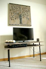 modern tv stands diy tv stand a blend of industrial rustic and modern