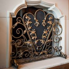 modern decorative fireplace screen for the classic image of metal