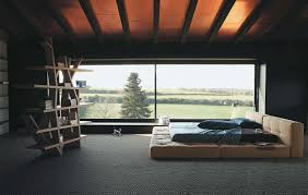 minimalist bedroom minimalist living room in small loft interior