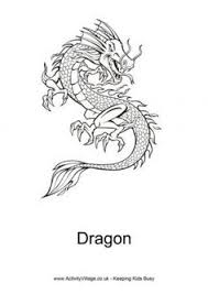 chinese dragon coloring chinese asian crafts