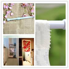 How To Extend Curtain Rod Length Adjustable Tension Bathroom Shower Curtain Extensible Rod Hanger