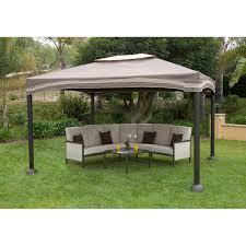 10 X 12 Patio Gazebo by Roman Cabin Style Gazebo Garden House 12 U0027 X 10 U0027 Walmart Com