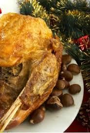 cuisine chapon roti chapon rôti aux marrons et aux chignons