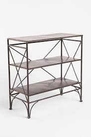 furniture home wood and metal bookcase with ladder library