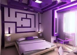 wall theme purple bedroom wall themes combined by white wooden bed with